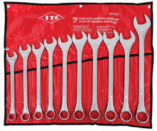 Load image into Gallery viewer, 10 PC Jumbo S.A.E. Combination Wrench Set Model#ICWJ-10S Product#020202