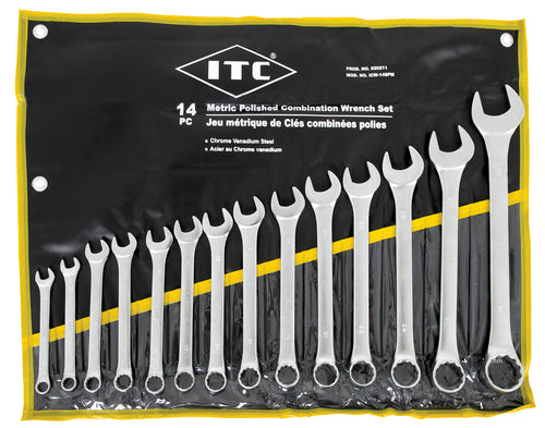 14 PC Metric Polished Combination Wrench Set Model#ICW-14PM Product#020211