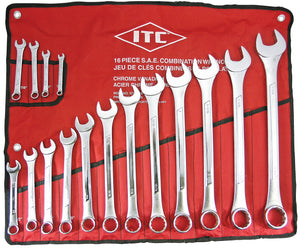 16 PC S.A.E. Combination Wrench Set Model#ICW-16 Product#020215