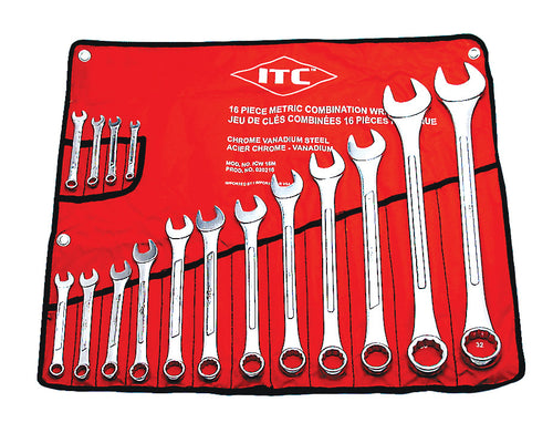 16 PC Metric Combination Wrench Set Model#ICW-16M Product#020216