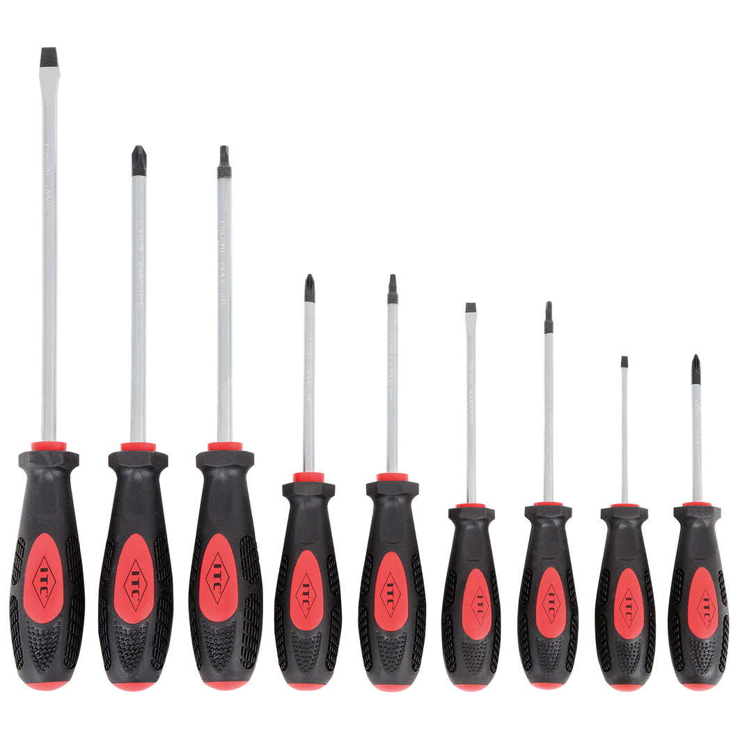 9 PC Ergonomic Screwdriver Set Model#IESD-9S Product#020906