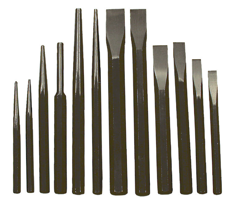 12 PC Jumbo Punch and Chisel Set Model#IPC-12 Product#023505