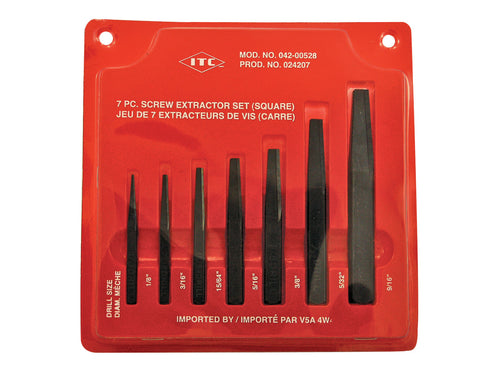 7 PC Square Extractor Set Model#ISE-7 Product#024207