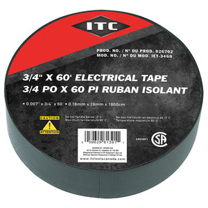 "3/4"" x 60' Electrical Tape Model#IET-3460 Product#026702"