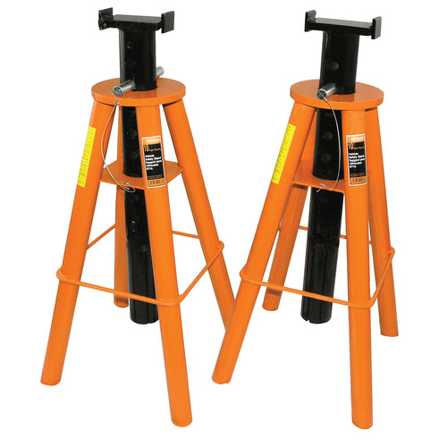 10 Ton Jack Stands High Profile Set - Heavy Duty Model#871A Product#032226