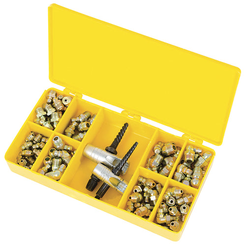101 PC S.A.E. Grease Fitting and Tool Set – Heavy Duty Model#JGFK-101 Product#350263