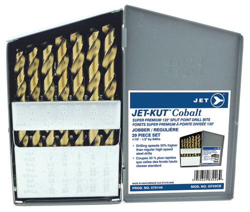 29 PC JET-KUT COBALT Super Premium Drill Bit Set Product#570144