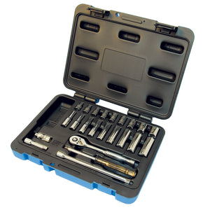 "42 PC 1/4"" DR S.A.E./Metric Socket Wrench Set - 6 Point Product#600125"
