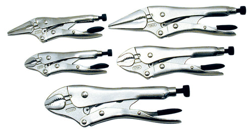 5 PC Locking Pliers Set - Super Heavy Duty Product#730335