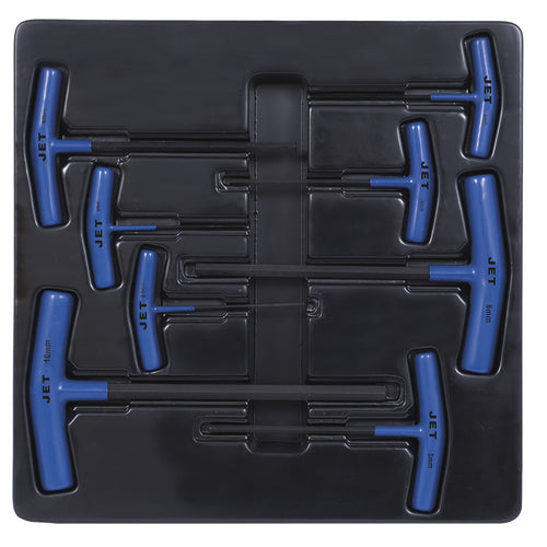 8 PC Metric T Handle Hex Key Set Product#775105