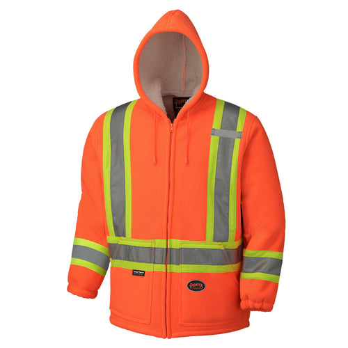 Hi-Viz Polyester Fleece Boa Lined Hoodie Model#6920 Product#V1060150
