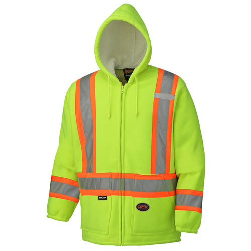 Hi-Viz Polyester Fleece Boa Lined Hoodie Model#6921 Product#V1060260