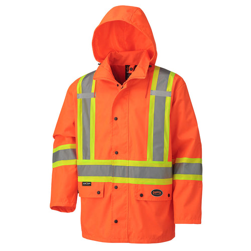 450D Hi-Viz 100% Waterproof Jacket Model#5575A Product#V1110250