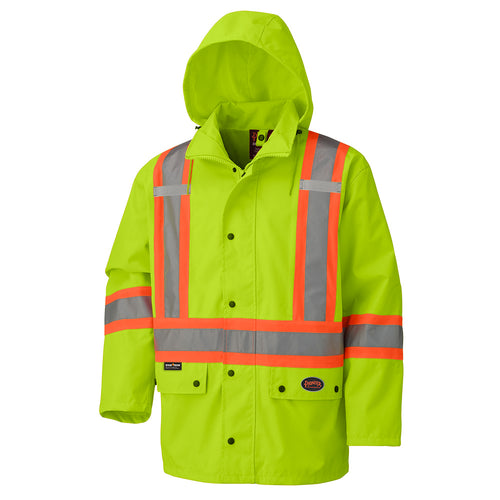 450D Hi-Viz 100% Waterproof Jacket Model#V1110660