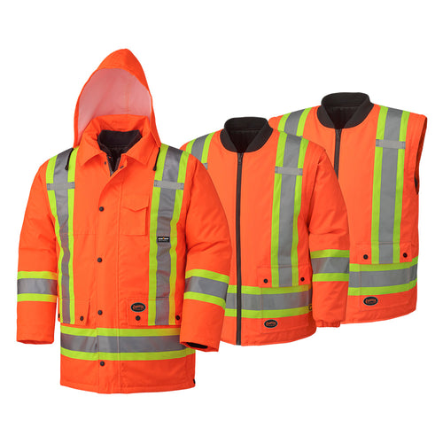 Hi-Viz 100% Waterproof 6-in-1 Parka Model#5020 Product#V1120150