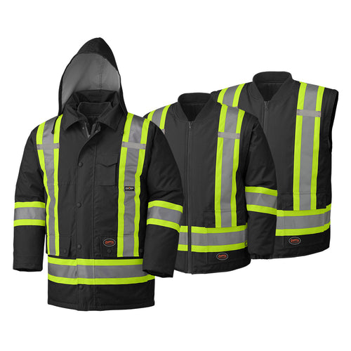 Hi-Viz 100% Waterproof 6-in-1 Parka Model#5025 Product#V1120470