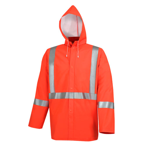 Hi-Viz PVC/Poly/PVC Rain Jacket Model#5106 Product#V3032050
