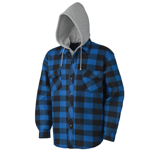 Quilted Hooded Polar Fleece Shirt Model#415SS Product#V3080393