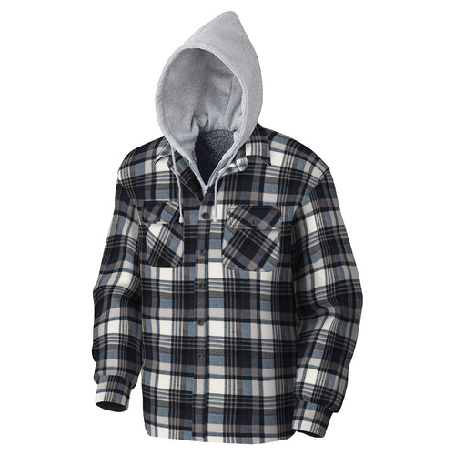 Quilted Hooded Polar Fleece Shirt Model#415BG Product#3080396