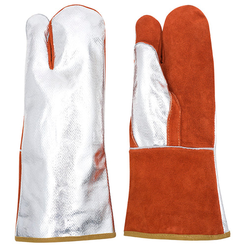 High Heat Aluminized/Leather Combo Mitt Model#695FL Product#V5240430-O/S