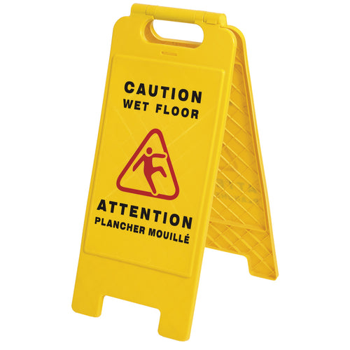 Bilingual Janitorial Floor Sign Model#301 Product#V6300160-O/S
