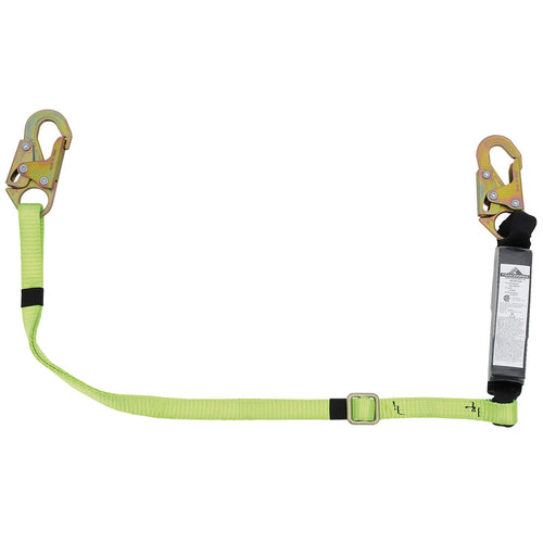 E4 Shock Absorbing Lanyard - SP - Single Leg - Snap Hooks - 6' (1.8 M) - Adjustable Model#SA-3400-6A Product#V8104106A