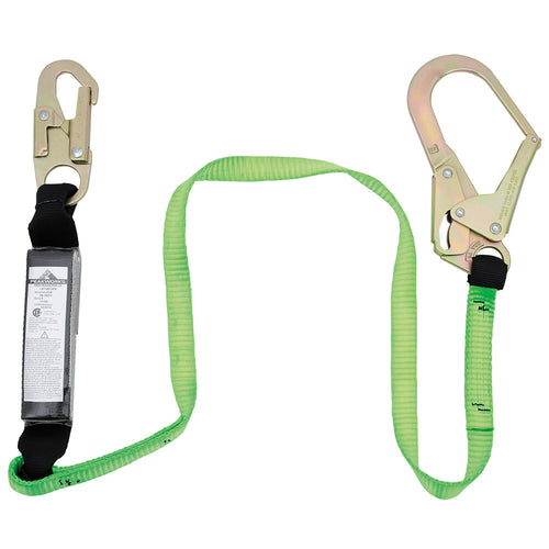 E4 Shock Absorbing Lanyard - SP - Single Leg - Snap & Form Hooks - 4' (1.2 m) Model#SA-3402-4 Product#V8104124