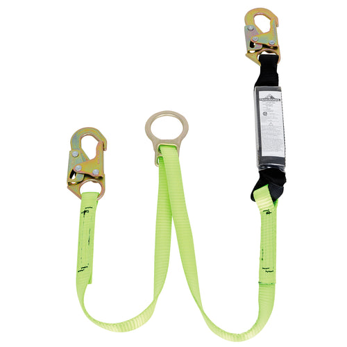 E4 Shock Absorbing Lanyard - SP - Single Leg - 2 Snap Hooks & Tie Back - 4' (1.2 m) Model#SA-3405-4 Product#V8104154