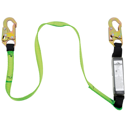 E6 Shock Absorbing Lanyard - SP - Single Leg - Snap Hooks - 4' (1.2 m)Model#SA-7400-4 Product#V8104304