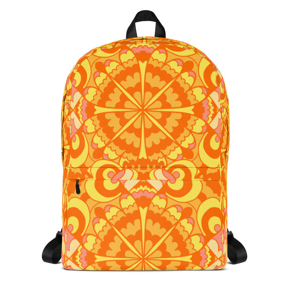 Abstract Orange Backpack