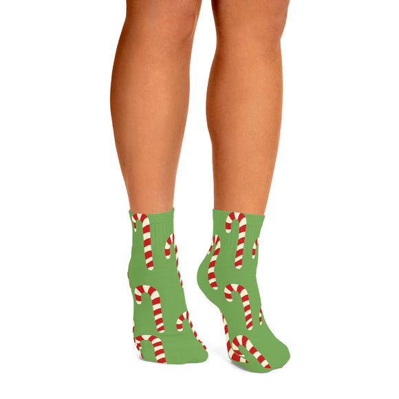 Candy Cane Ankle Socks
