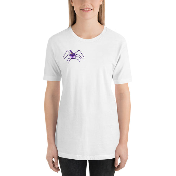 AHHH There's a Spider on You! Short-Sleeve Unisex T-Shirt