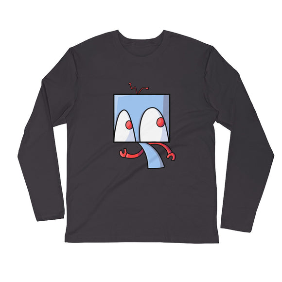 Sneaky Robot Long Sleeve Fitted Crew