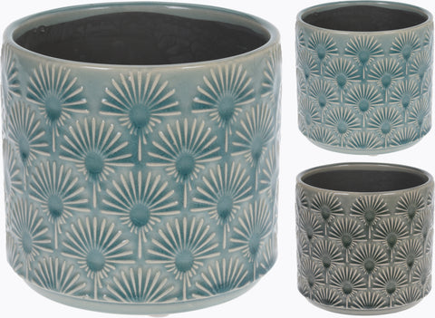 Large Retro Flower Pot