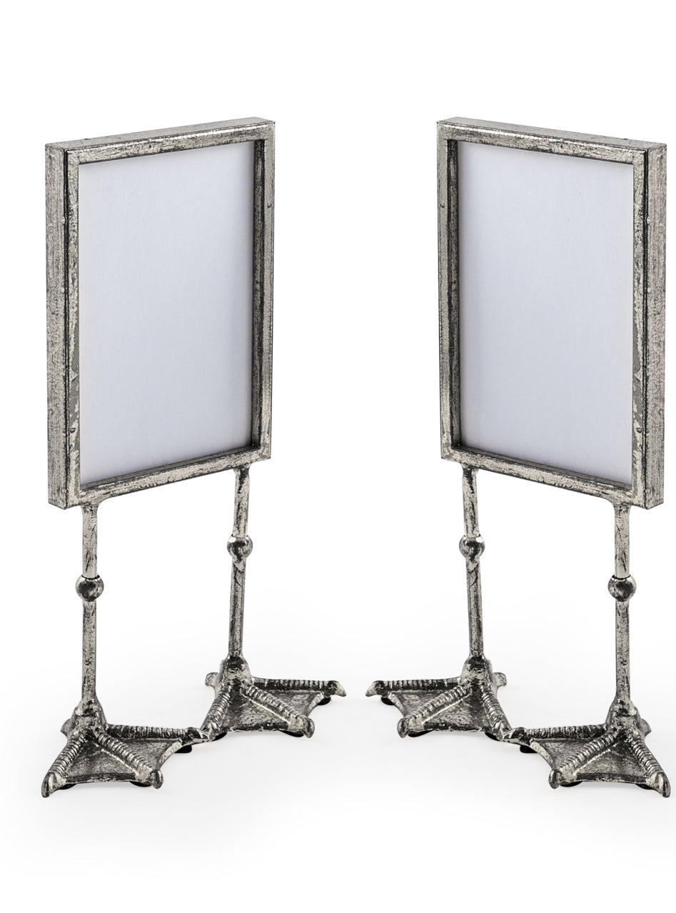 Silver Portrait Duck Feet Photo Frame