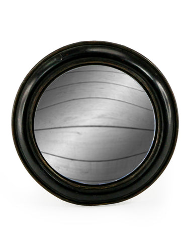 Medium Chunky Frame Black Convex Mirror