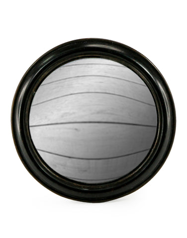 Large Chunky Frame Black Convex Mirror