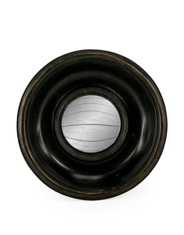 Mini Deep Frame Black Convex Mirror