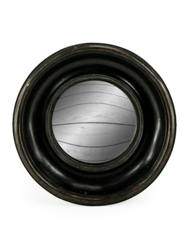 Small Deep Frame Black Convex Mirror