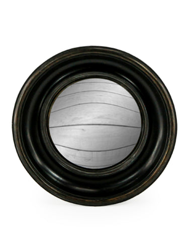 Medium Deep Frame Black Convex Mirror