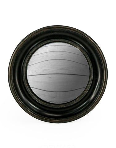 Large Deep Frame Black Convex Mirror