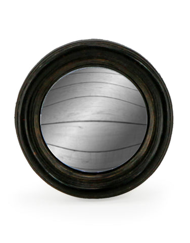 Mini Round Black Convex Mirror