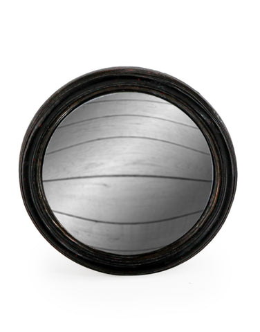 Small Round Black Convex Mirror