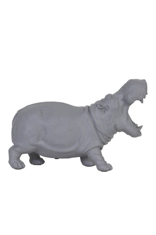 Large Grey Hippo Table Lamp