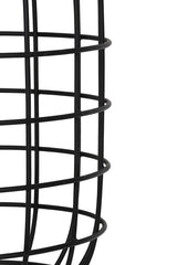 Large Black Cage Floor Lamp