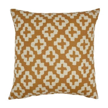 Mustard Geometric Cushion