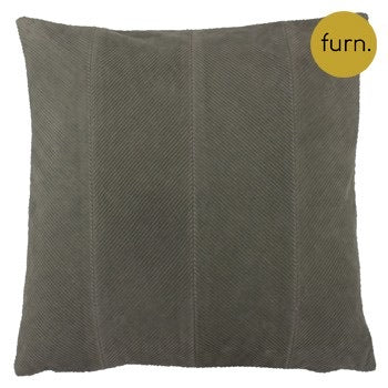 Grey Chevron Corduroy Cushion