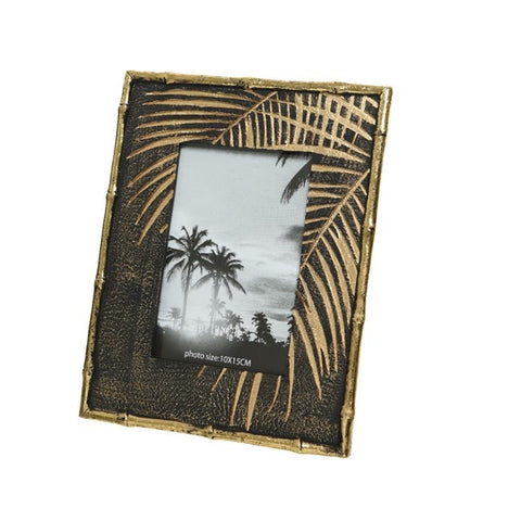 4x6 Black & Gold Tropical Photo Frame