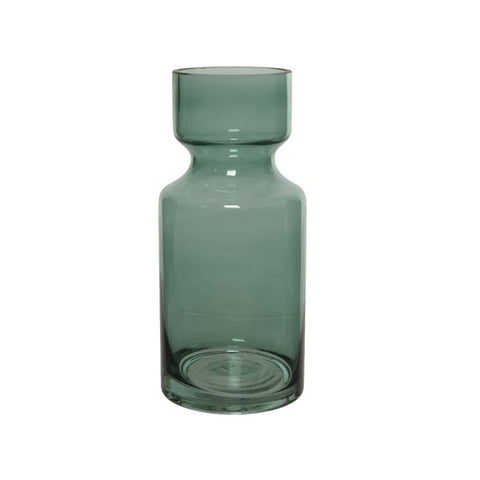 Eucalyptus Green Opaque Glass Vase