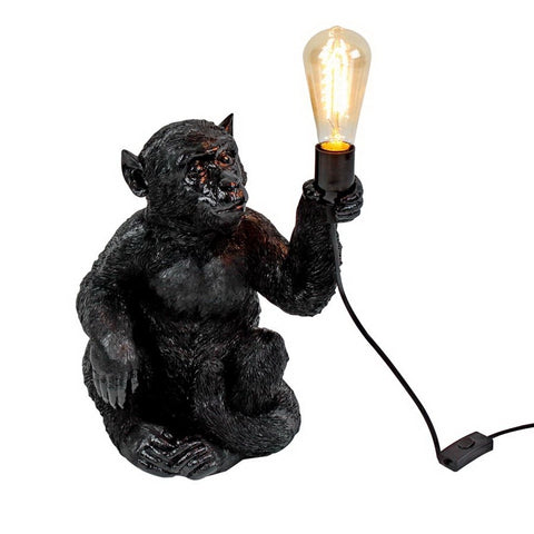 Charlie the Sitting Monkey Lamp in Black